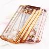 (436-061)เคสมือถือซัมซุง Case Samsung S6 Edge เคสนิ่มขอบชุบแววพื้นหลังใสลายดอกไม้สวยๆ
