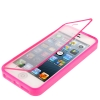 Case เคส Transparent Flip Pure Color TPU iPhone 5 (Magenta)