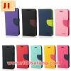 (380-002)เคสมือถือซัมซุง Case Samsung Galaxy J1 เคสนิ่มสมุดฝาพับทูโทน Mercury มีช่องใส่การ์ดนามบัตร