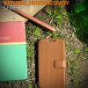 ZENUS : Prestige Heritage Diary Leather Cover Case For Samsung Galaxy S4, S IV, i9500