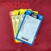 (422-004)ซองซิปพลาสติกใส่เคสโทรศัพท์ขนาด 12X21 cm จำนวน 100 ซอง หน้าใสหลังขุ่นแฟชั่น