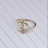 Gold Olive Leaf Open Ring (DOME Fiction) แหวนแบบเปิดรูปใบมะกอกสีเงิน ของแจกแฟนฟิคโดม