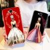 (025-759)เคสมือถือ Case Huawei GR5 เคสนิ่มTPU ลายการ์ตูนผู้หญิงสวย ขอบเพชรหรูหรา