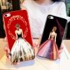 (025-778)เคสมือถือไอโฟน case iphone 5/5s/SE เคสนิ่มTPU ลายการ์ตูนผู้หญิงสวย ขอบเพชรหรูหรา