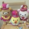 ตุ๊กตา Rilakkuma 10th anniversary ลิขสิทธิ์แท้จากญี่ปุ่น (ราคาต่อเซ็ต 3 ตัว)