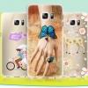 (432-016)เคสมือถือซัมซุง Case Samsung Galaxy S7 เคสนิ่มใสพื้นหลังลายการ์ตูนน่ารักๆ