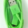 สาย micro usb to usb 1 เมตร สีเขียว