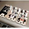 (025-444)เคสมือถือไอโฟน Case iPhone 6/6S เคสนิ่มใสพื้นหลังแววลาย Mickey Minnie