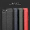 (025-810)เคสมือถือ Case OPPO R11 Plus เคสนิ่มซิลิโคนลายหนังสไตส์เรียบหรู