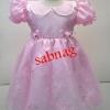 ชุดเจ้าหญิงน้อยแขนตุ๊กตากุ๊น คอบัวสำหรับเด็ก7-8ปี