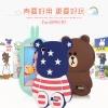 (013-010)เคสมือถือ Case OPPO R7/R7 Lite เคสนิ่มตัวการ์ตูนกระต่ายและหมี 3D