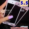 (371-013)ฟิล์มมือถือไอโฟน iPhone6 5.5นิ้ว ฟิล์มกระจกนิรภัยประดับเพชร