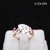 Gold Love Ring แหวนแถวแฟชั่นโลหะชุบทองคำรูป Love สไตล์เกาหลี