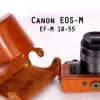 Leather Case for Canon EOS-M with EF-M 18-55