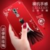 (025-733)เคสมือถือ Case Huawei GR5 2017 เคสนิ่มซิลิโคนลายการ์ตูนผู้หญิง ขอบเพชรพร้อมสายคล้องคอถอดแยกได้