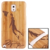 Woodcarving Basketball Player Pattern Detachable Bamboo Material Case เคส Samsung Galaxy Note 3 (III) / N9000 ซัมซุง กาแล็คซี่ โน๊ต 3