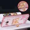 (587-002)เคสมือถือวีโว Vivo Xshot เคสนิ่มลายดอกขอบแววพื้นหลังแหวนโลหะคริสตัลสวยๆ