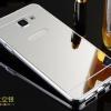 (พร้อมส่ง)เคสมือถือซัมซุง Case Samsung A9/A9000 เคสกรอบโลหะพื้นหลังอะคริลิคแวววับคล้ายกระจกสวยหรูสีเงิน