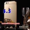 (พร้อมส่ง)เคสมือถือไอโฟน case iphone 6 Plus/6S Plus เคสกรอบโลหะพื้นหลังอะคริลิคเคลือบเงาทองคำ 24K