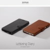 Zenus : Lettering Diary Synthetic Leather Cover Case For Galaxy Note 4