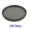 72mm Camera CPL Filter Lens (Black)