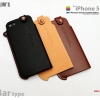 LIM'S : Premium Genuine Leather Edition Bar Cover Case For iPhone 5