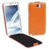 Melkco Luxury Handmade Genuine Leather Case for Samsung Galaxy Note II (N7100) (สีส้ม)