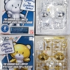 THE GUNDAM BASE LIMITED PETIT'GGUY SILVER SPARKLE&PLACARD THE GUNDAM BASE LIMITED PETIT'GGUY GOLD TOP&PLACARD