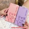 (391-036)เคสมือถือซัมซุง Case Samsung A8 เคสนิ่มสมุดเปิดข้างลายแมวน่ารักๆ DOMI CAT