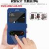 (005-048)เคสมือถือซัมซุง case samsung A5 เคสพลาสติกสมุดเปิดข้างฝาพับ PU ลายผ้าไหมโชว์ 2 หน้าจอ