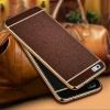 (025-305)เคสมือถือ Case Huawei P8 Lite เคสนิ่มขอบชุบแววพื้นหลังลายหนัง