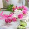 มงกุฎดอกไม้ ของขวัญวันรับปริญญา ที่คาดผมดอกกุหลาบสีชมพู