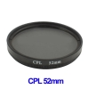 52mm Camera CPL Filter Lens (Black)