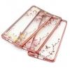 (526-002)เคสมือถือซัมซุง case samsung A5 เคสนิ่มใสขอบชุบแววพื้นหลังลายดอกไม้
