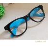 แว่นตาแฟชั่น เกาหลี EWK006 กรอบดำ ขาสีฟ้า
