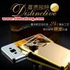 (025-135)เคสมือถือซัมซุง Case Samsung Galaxy J5 เคสกรอบโลหะพื้นหลังอะคริลิคเคลือบเงาทองคำ 24K