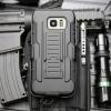 (002-105)เคสมือถือซัมซุง Case Samsung Galaxy S7 Edge เคสนิ่ม+พื้นหลังประกบแบบพลาสติก+มีขาตั้ง+ที่เหน็บเอวสไตล์กันกระแทก