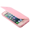Case เคส Pure Color Smooth Surface Flip TPU iPhone 5 (Pink)