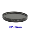 62mm Camera CPL Filter Lens (Black)