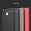 (025-808)เคสมือถือ Case Huawei P9 Plus เคสนิ่มซิลิโคนลายหนังสไตส์เรียบหรู