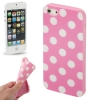 Case Pink and White Dot เคส TPU iPhone 5