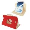 ซองหนัง แบบพลิกแนวนอน หมุนได้ 360 องศา 2สี Samsung Galaxy Note 8.0 (N5100) (Red)