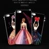 (025-854)เคสมือถือไอโฟน Case iPhone 6Plus/6S Plus เคสนิ่มซิลิโคนลายการ์ตูนผู้หญิงขอบเพชร