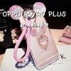(497-003)เคสมือถือ Case OPPO F1 Plus (R9) เคสนิ่มหูกระต่าย 3D ประดับเพชรแหวนมิกกี้เมาส์