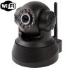 IP Camera Wireless Infrared 0.3 ล้านพิกเซล การตรวจจับการเคลื่อนไหว สีดำ