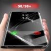 (660-002)เคสมือถือไอโฟน Case Samsung S8+ เคสพลาสติก+PU กึ่งโปร่งใสสไตล์ยอดฮิต(ไม่มีชิป)