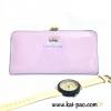 กระเป๋าสตางค์ใบยาว ลูกบิดสีทอง Love For You สีม่วงพาสเทล *สินค้ามีตำหนินิดหน่อยค่ะ*