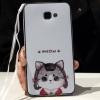 (พร้อมส่ง)เคสมือถือซัมซุง Case Samsung A7 (2016) เคสนิ่มขอบสีพื้นหลังลายสวยๆน่ารักๆ