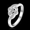R910 แแหวนเพชรCZ ตัวเรือนเคลือบเงิน 925 หัวแหวนเพชรล้อม ขนาดแหวนเบอร์ 7