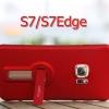 (606-004)เคสมือถือซัมซุง Case Samsung S7 Edge เคสนิ่มคลุมเครื่องทรงแฟชั่นพร้อมขาตั้งในตัว